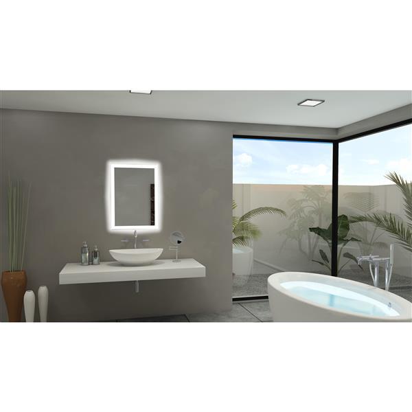 Paris Mirror 20-in x 28-in 6000K 24V LED Lighting Mirror