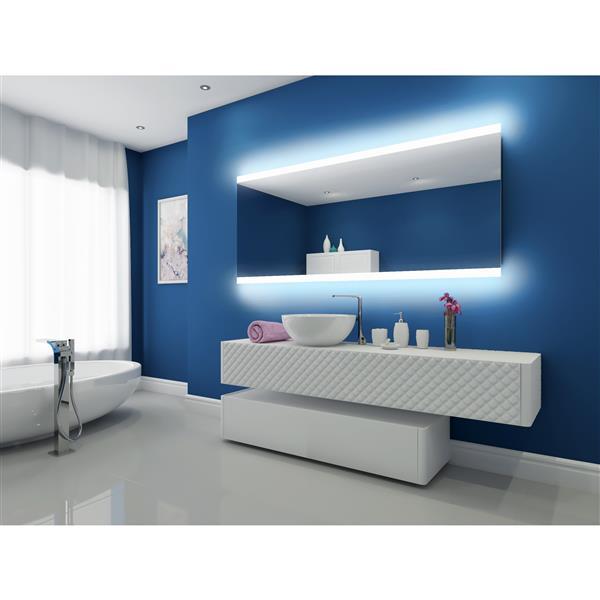 Paris Mirror 80-in x 35-in 3000K 24V LED Lighting Mirror