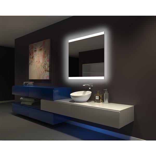 Paris Mirror 40-in x 35-in 6000 K 24 V LED Lighting Mirror