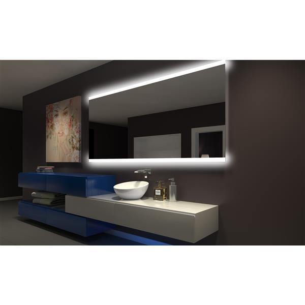 Paris Mirror 100-in x 45-in 3000K Rectangular Backlit Mirror