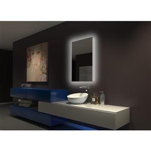 Paris Mirror 24-in x 36-in 3000K 24V LED Lighting Mirror