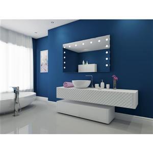 """Miroir à éclairage DEL intégré, 60""""x 36"""", 6000K, 24V"""