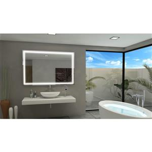 Paris Mirror with LED Lighting 60-in x 40-in 6000K 24V