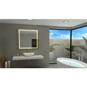 Paris Mirror 40-in x 40-in 3000K 24V LED Lighting Square Mirror
