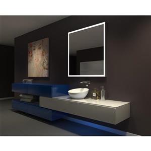 """Miroir à éclairage DEL intégré,  42""""x 42"""", 6000K, 24V"""
