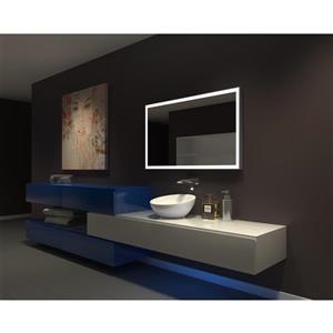 Paris Mirror 42-in x 42-in 3000K 24V LED Lighting Mirror