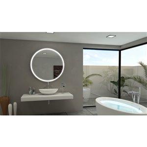 Paris Mirror 40-in x 40-in 6000K 24V LED Lighting Mirror
