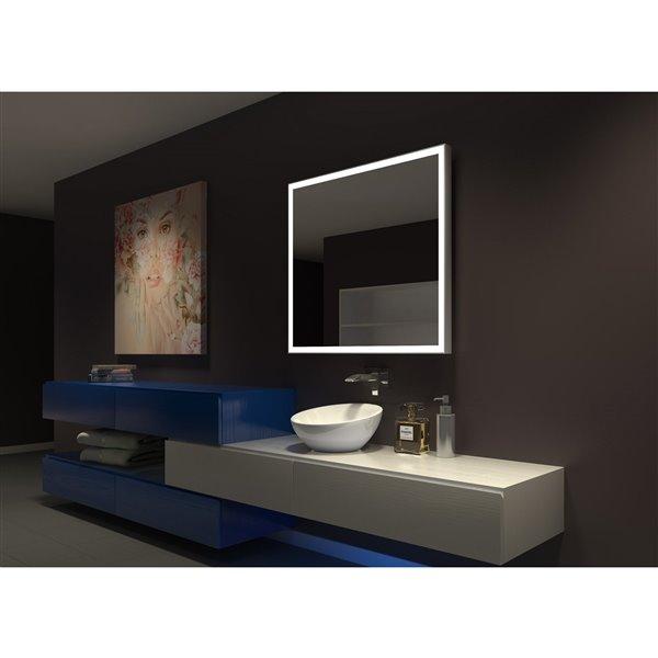 Paris Mirror 40-in x 36-in 3000K Illuminated Mirror GALAXY