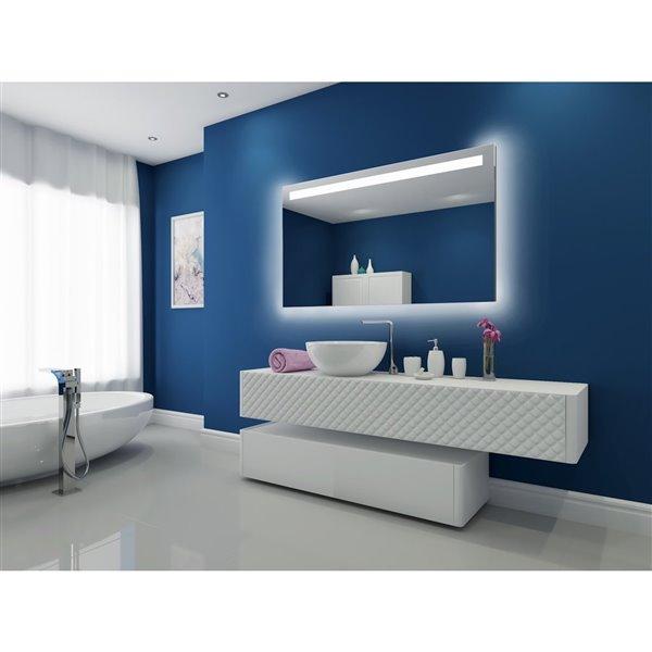 """Miroir à éclairage DEL intégré, 60""""x 35"""", 3000K, 24V"""