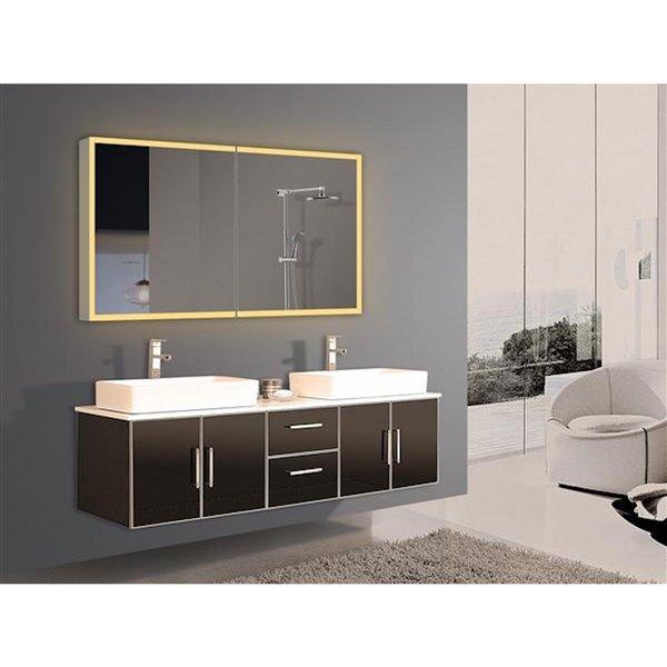 Paris Mirror 48-in x 28-in LED Lighting Medicine Cabinet