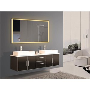 Paris Mirror  48-in x 28-in LED Lighting Medicine Cabinet