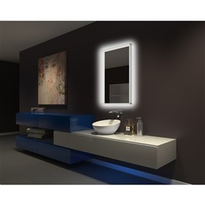 Paris Mirror 24-in x 32-in 6000K Illuminated Acrylic Mirror