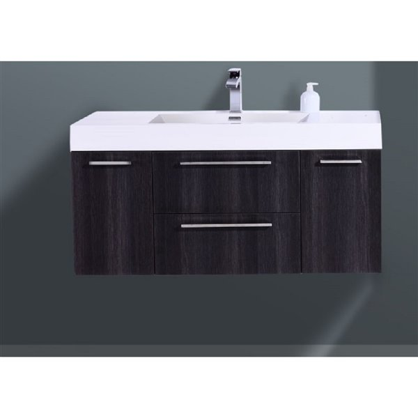 GEF Amira Vanity with Acrylic Top, 48-in Distressed Oak