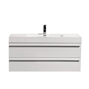 GEF Rosalie 48-in White Single Sink Bathroom Vanity with Acrylic Top