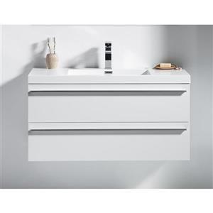 GEF Rosalie 42-in White Single Sink Bathroom Vanity with Acrylic Top