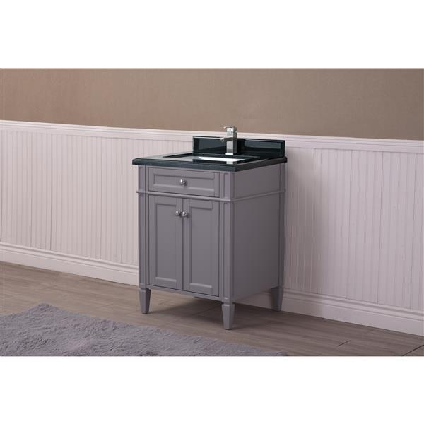 GEF Catalina Vanity withBlack Granite Top, 24-in Grey