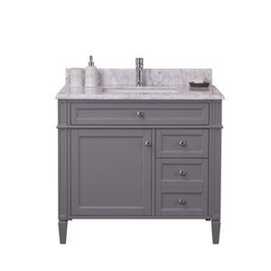 Golden Elite Sorel 36-in Gray Bathroom Vanity with Marble Top