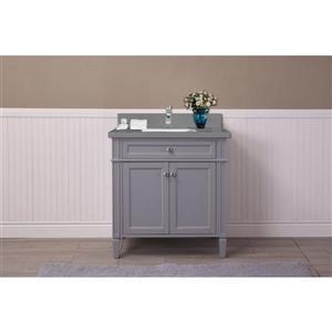 Sorel 30-in Gray Bathroom Vanity with Quartz Top