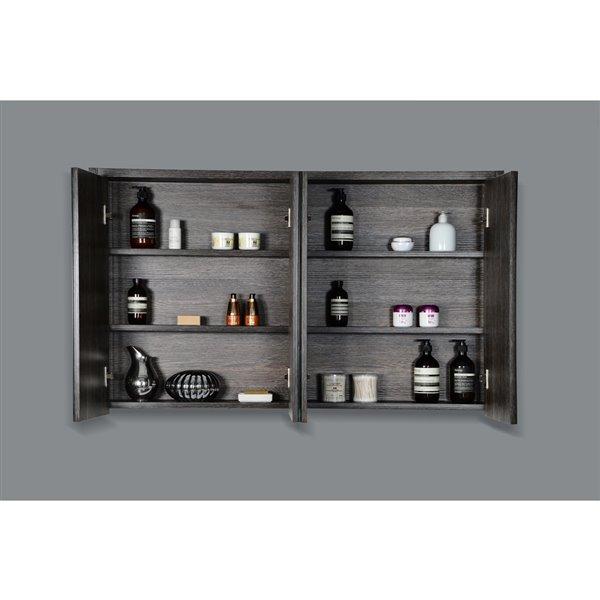 GEF Selena Medicine Cabinet, 46-in Dark Oak