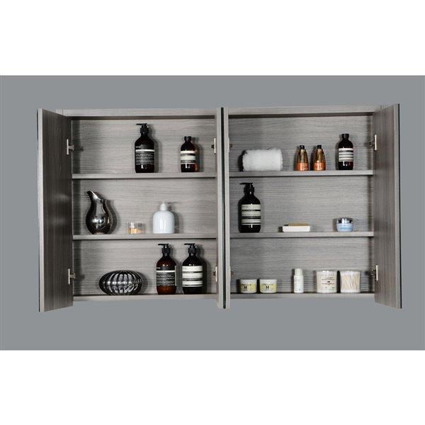 GEF Selena Medicine Cabinet, 46-in Maple Grey