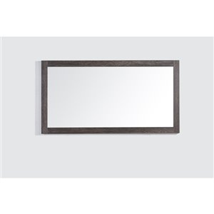 GEF Selena Bathroom Mirror, 60-in Dark Oak
