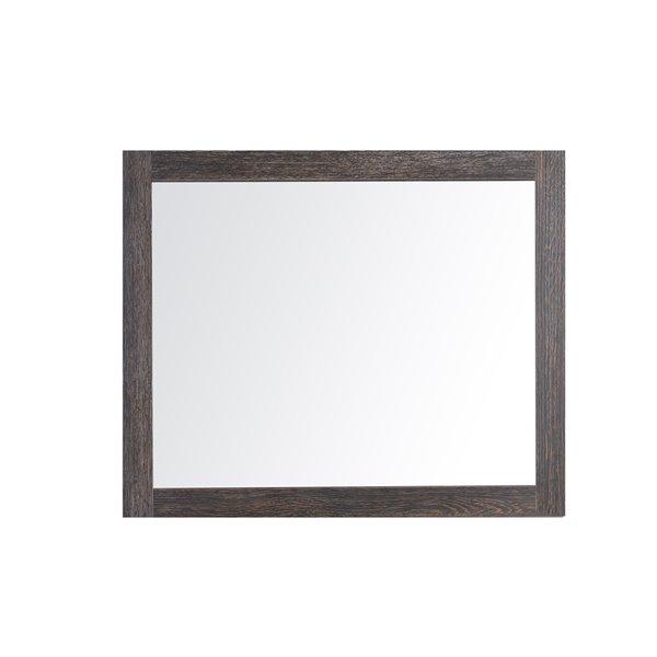 GEF Selena Bathroom Mirror, 36-in Dark Oak