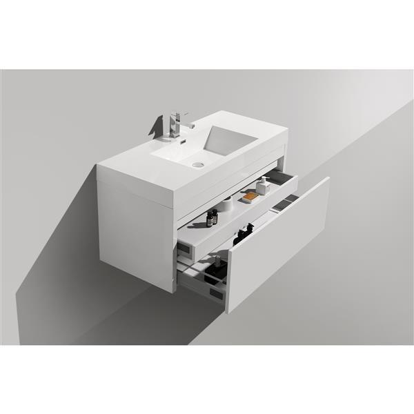 GEF Meuble-lavabo Selena avec comptoir acrylique , 48 po. blanc
