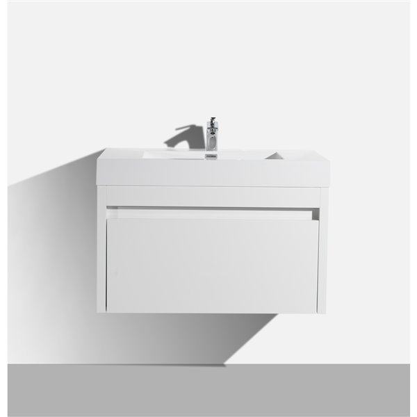 GEF Selena Vanity with Acrylic Top, 36-in White