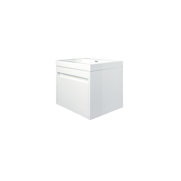 GEF Selena Vanity with Acrylic Top, 24-in White