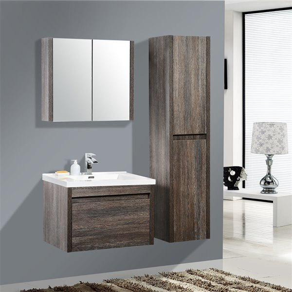 Remarkable Golden Elite Labrador 24 In Dark Oak Bathroom Vanity With Interior Design Ideas Pimpapslepicentreinfo