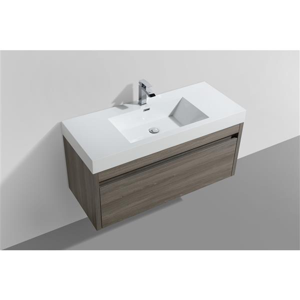 GEF Selena Vanity with Acrylic Top, 48-in Maple Grey