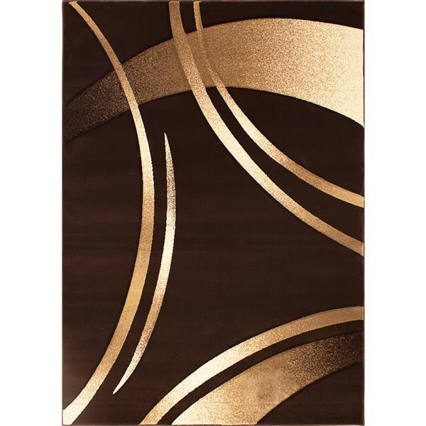 Tapis Reflections de la collection Luminance, brun, 8'x11'