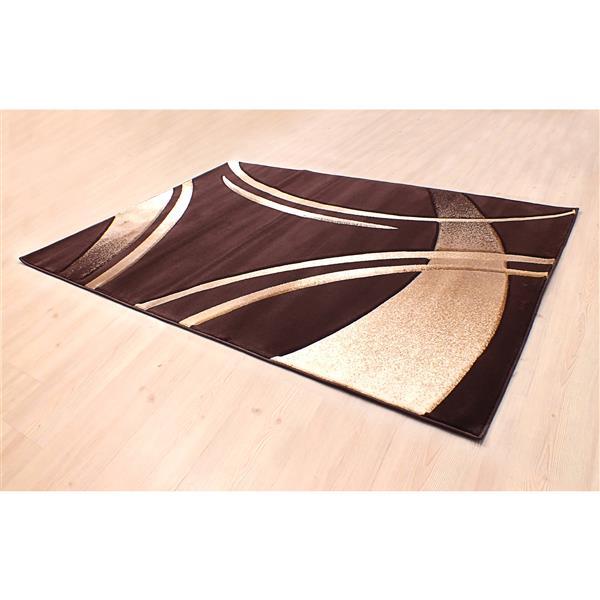 Segma Reflections 2-ft x 3-ft Dark Brown Area Rug