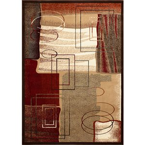 Tapis MONACO de la collection Monaco, Multicolore, 8'x11'