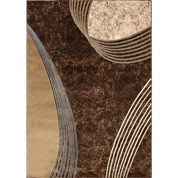 Segma Alberta 5-ft x 8-ft Darlene Chocolate Area Rug