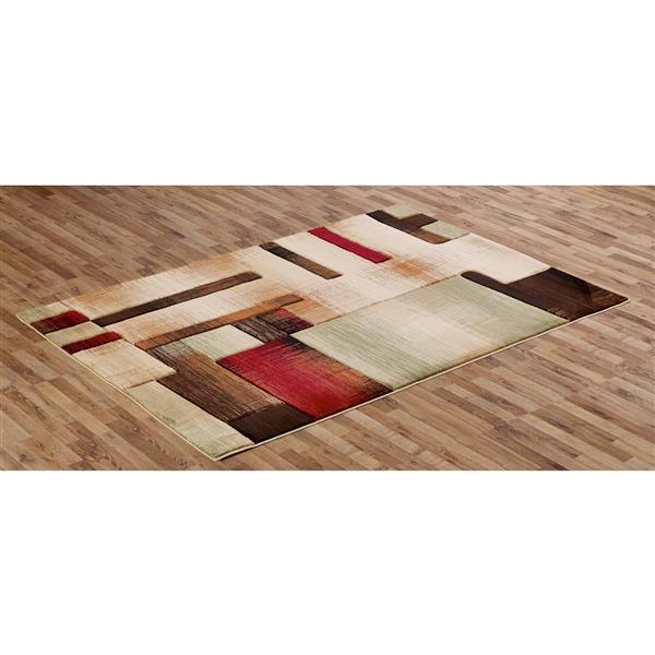 Segma Sofia 5-ft x 8-ft Jenna Multi-Colored Area Rug