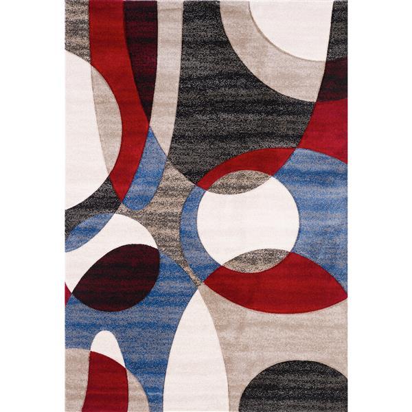 Tapis Elsia, 8' x 11', multicoloré