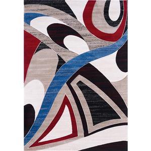 Tapis Elsia, 5' x 8', multicoloré