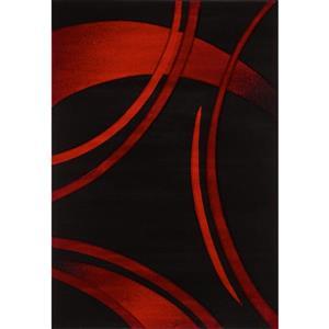 Segma Sofia 8-Ft x 11-Ft Black And Red Area Rug