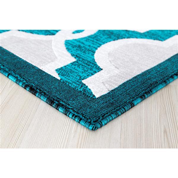 Segma 5-ft x 8-ft Turquoise Adele Area Rug