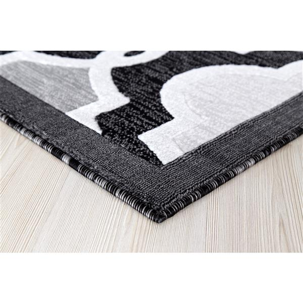 Tapis Illian, 8' x 11', noir