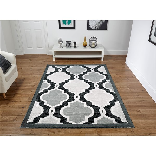 Segma Luminance 5-ft x 8-ft Lillian Black Area Rug