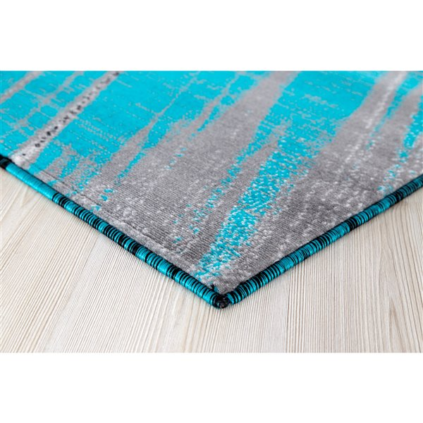 Segma Luminance 2-ft X 8-ft Turquoise Claire Area Rug
