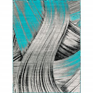 Tapis Claire, 2' x 8', turquoise