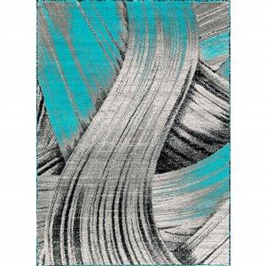 Segma Luminance 2-ft x 3-ft Turquoise Claire Area Rug