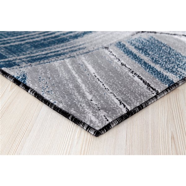 Segma Luminance 5-ft x 8-ft Evelyn Grey and Dark Blue Area Rug