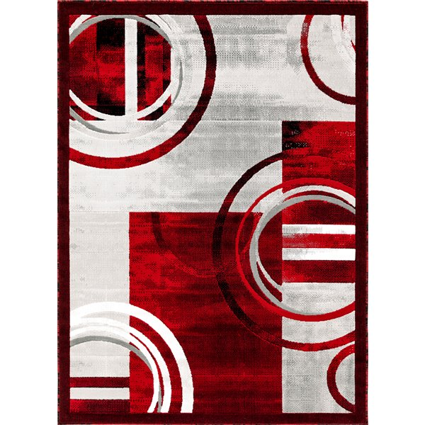 Segma Luminance 8-ft x 11-ft Nicole Red Area Rug