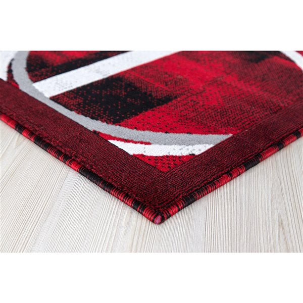 Segma Luminance 2-ft x 8-ft Nicole Red Area Rug