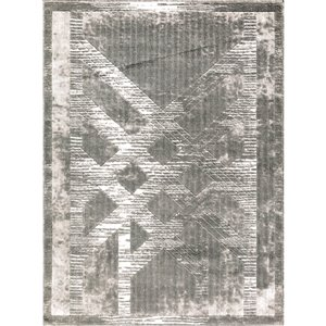 Tapis JENNY de la collection Luminance, Gris, 8'x11'