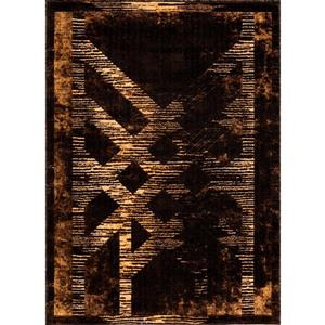 Tapis Trinity, 2' x 8', brun